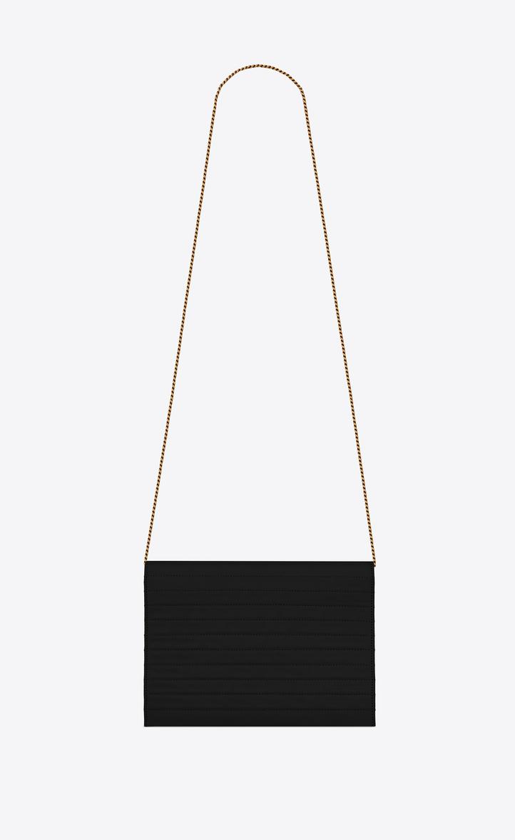 58584da5b4 Victoire Chain Bag In Crinkled Leather in Black