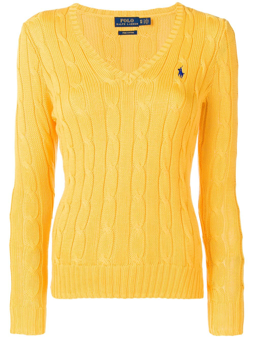 474ec43ff2ab75 Polo Ralph Lauren Cable Knit Jumper - Yellow | ModeSens