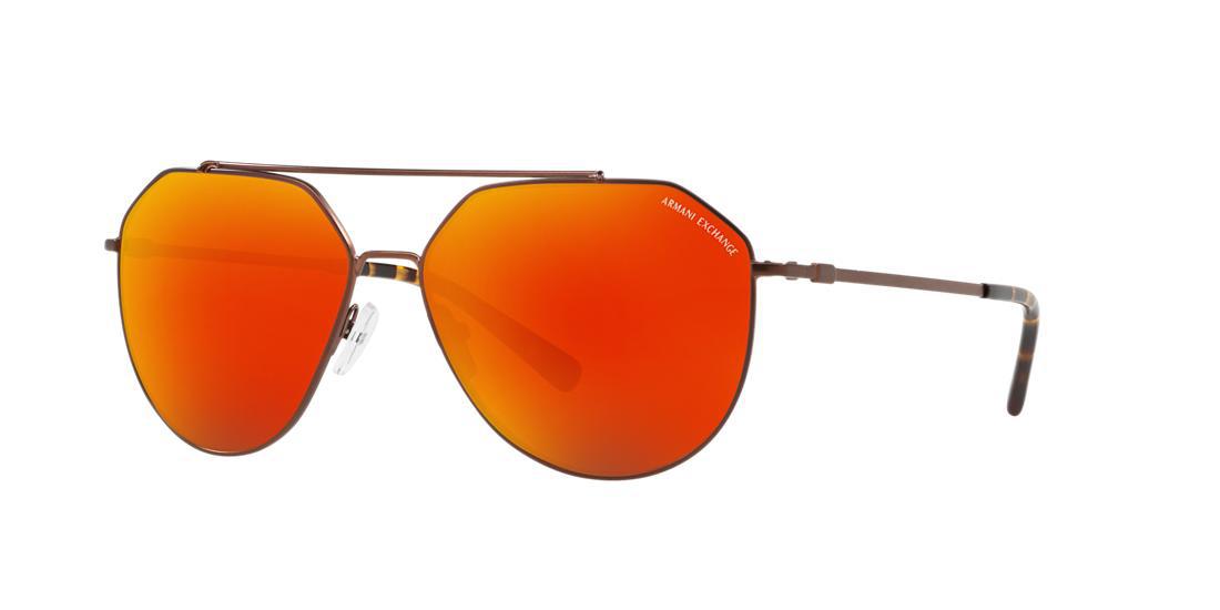 0b8993c2594 Armani Exchange Ax2023S 59 Bronze Square Sunglasses In Bronze Frames Red  Lenses