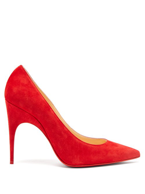 90eb328a49151 Christian Louboutin Alminette Pointy Toe Pump In Red   ModeSens