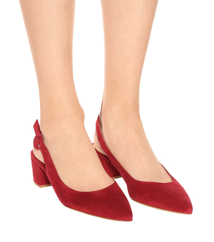 756023dcdff6 Gianvito Rossi Amee Suede Slingback Pumps In Red