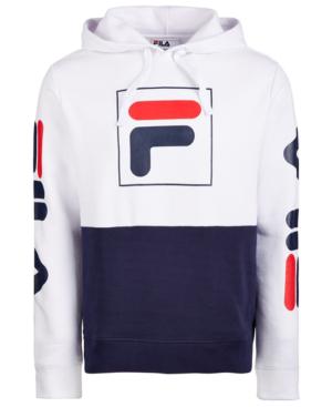 86ed02923008 Fila Men's Marzio Colorblocked Fleece Hoodie In White/Navy/Red ...