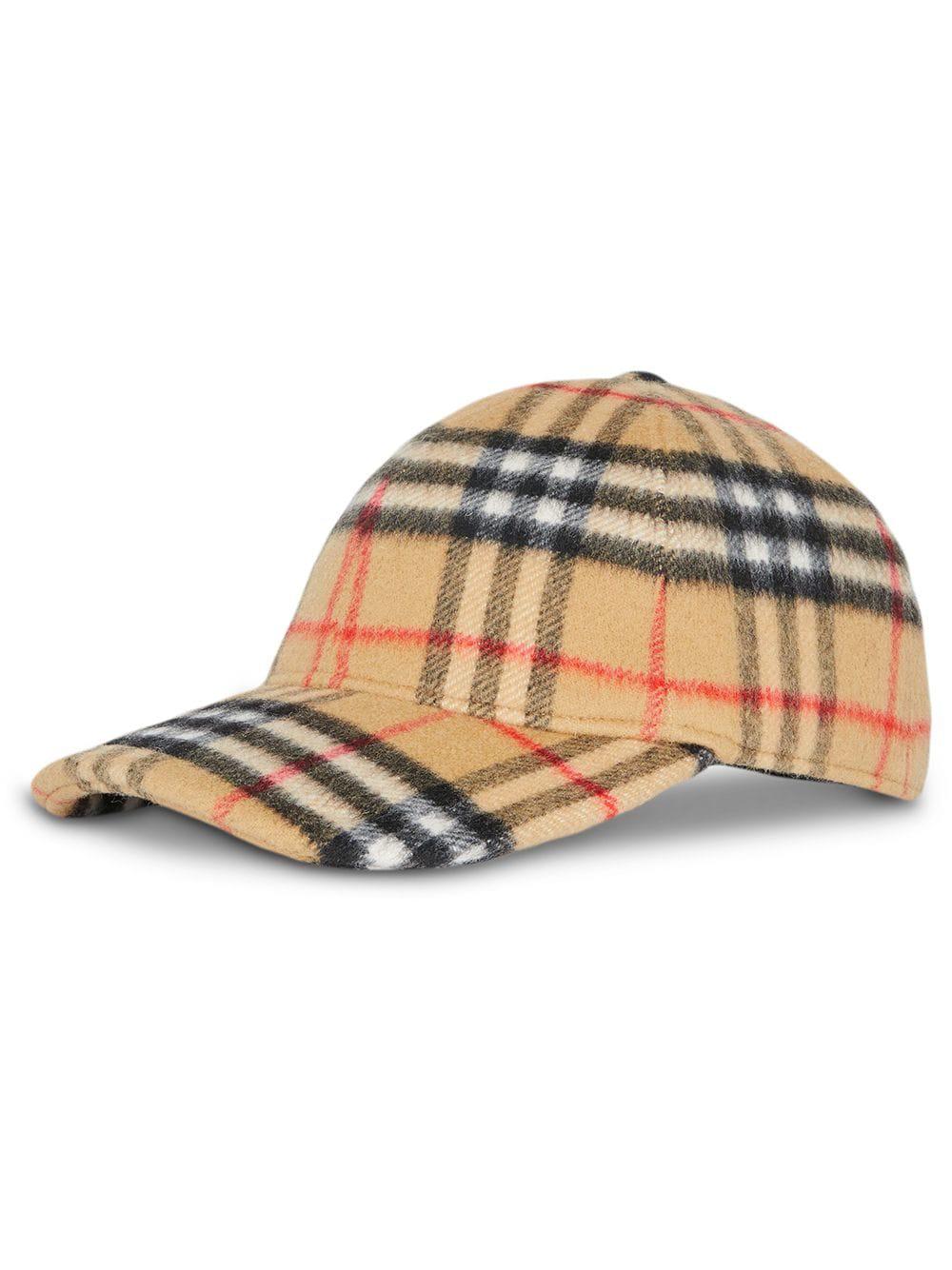 Burberry Checked Cotton-Canvas Baseball Cap In Yellow  771565ea75