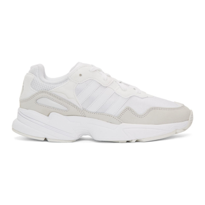 3ee575dce8904 Adidas Originals Adidas Men s Yung-96 Casual Sneakers From Finish Line In  White Grey