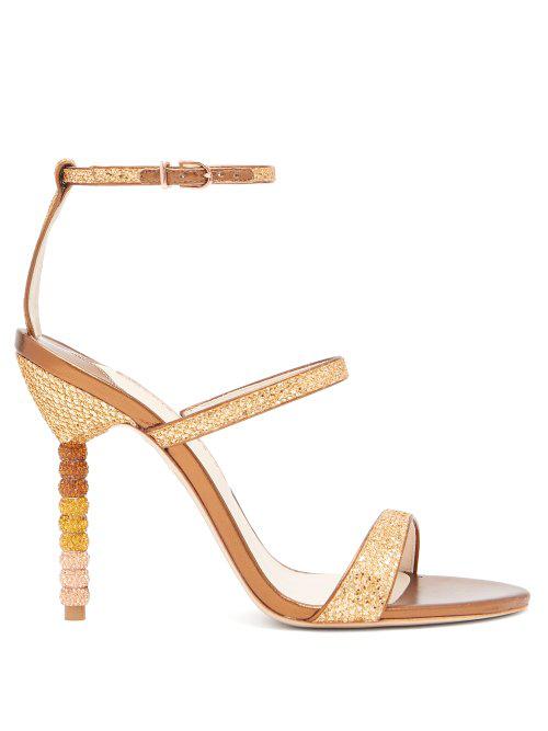 8710a0593 Sophia Webster - Rosalind Crystal Embellished Leather Sandals - Womens -  Bronze
