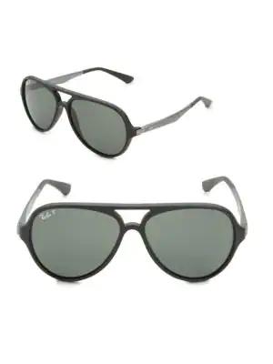 4e420c4b3b33f Ray Ban Pilot Aviator Sunglasses In Charcoal
