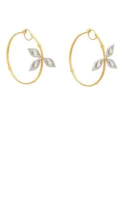 a2ff19d869c19 Cathy Waterman Bamboo Hoop Earrings in Gold