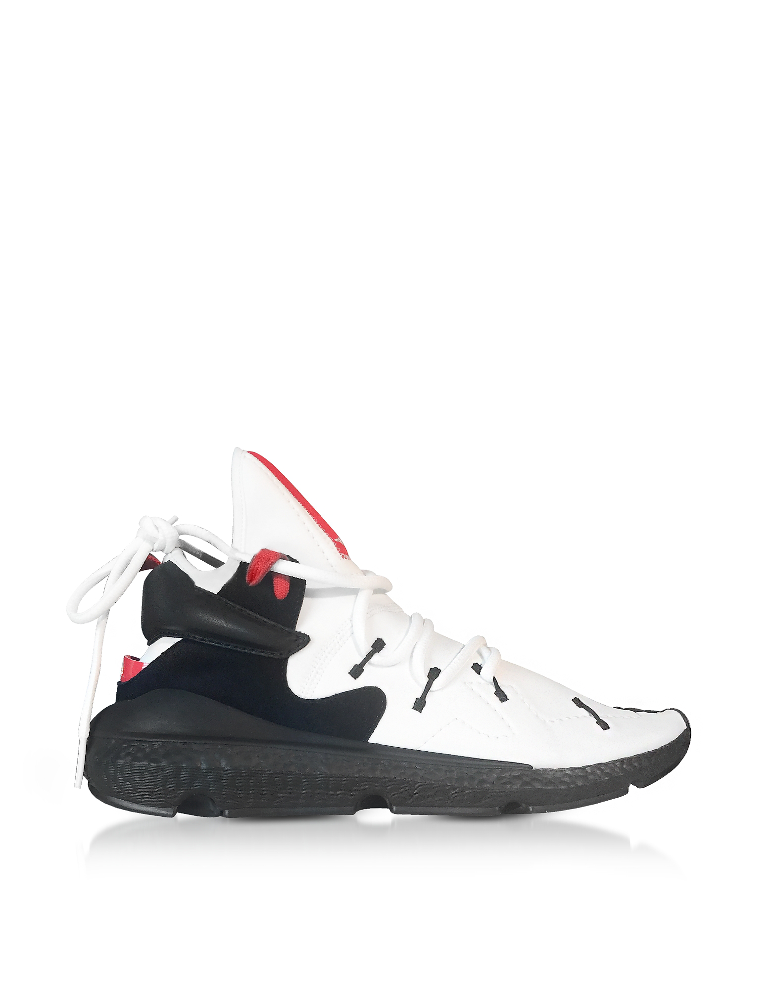sports shoes 15375 7dd75 Y-3 Kusari Ii Black, White And Red Neoprene Sneaker