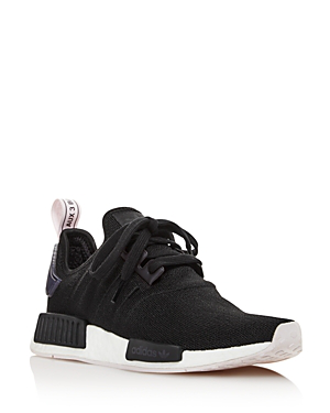 17f3d8b9ed89e Adidas Originals Women s Nmd R1 Knit Lace Up Sneakers In Black ...