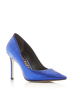 Sam Edelman Women s Hazel Pointed-Toe Pumps In Royal Blue
