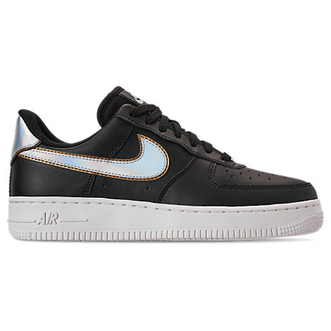 on sale 9705c d8f2b Nike Women s Air Force 1  07 Metallic Casual Shoes, Black