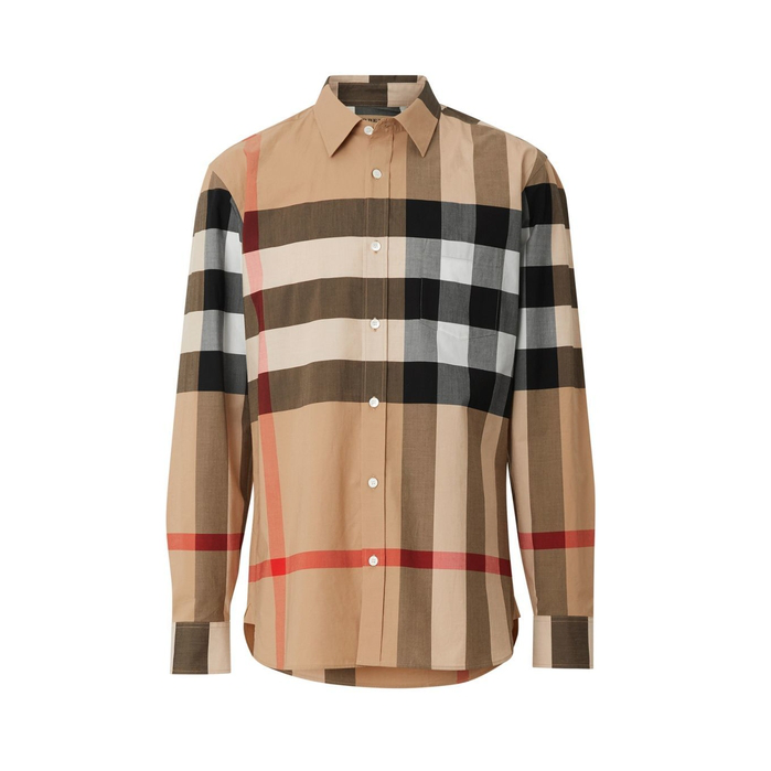 c76a5ea08 Burberry Windsor Check-Pattern Classic Fit Shirt In Neutrals | ModeSens