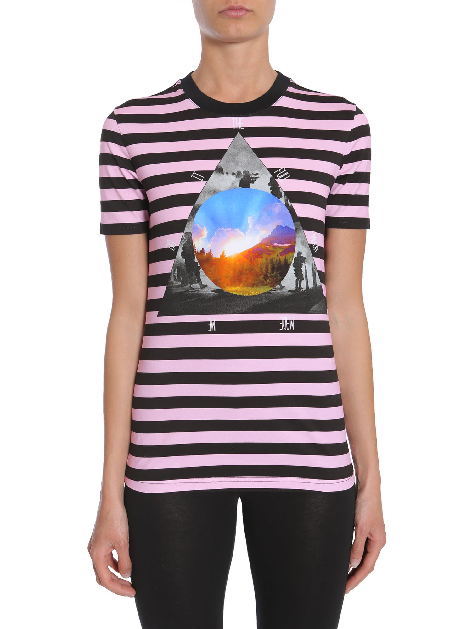 c29614b7 Givenchy Black/Pink Striped T-Shirt In Purple | ModeSens