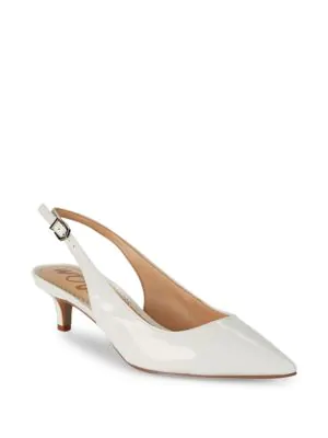 dfd8c1ff012 Sam Edelman Women s Ludlow Dress Nappa Leather Slingback Pumps In Bright  White
