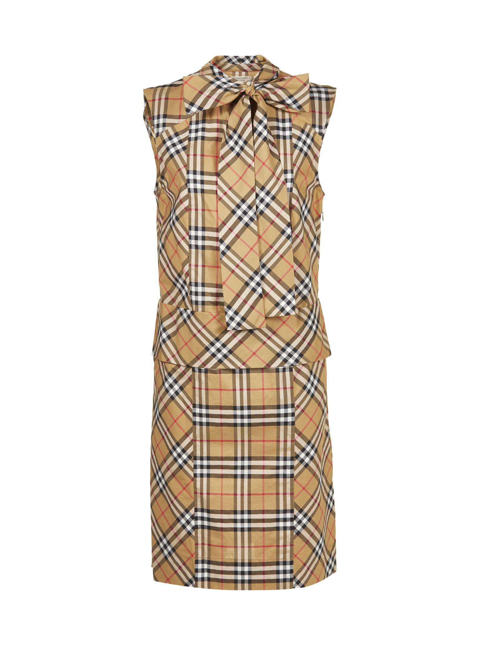 24d0cc3bcc9c0e Burberry Luna House-Check Sleeveless Cotton Dress In Brown