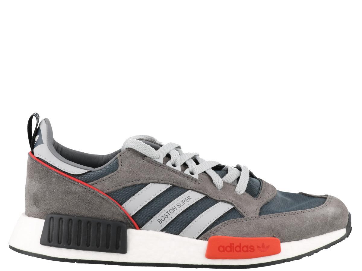 c3f9bf0fe89 Adidas Originals Adidas Never Made Multicoloured Boston Super R1 Suede  Sneakers - Farfetch In Grey