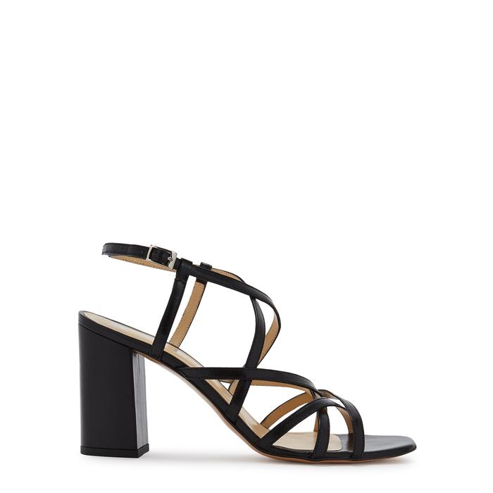 3e3d1f3be Kalda Pip 85 Black Leather Sandals