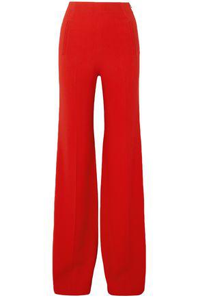 Roland Mouret Woman Axon Stretch-Crepe Wide-Leg Pants Red