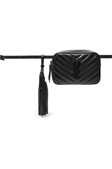 87792765c73b1 Saint Laurent Loulou Monogram Ysl Medium Chevron Quilted Leather Camera  Shoulder Bag - Black Hardware