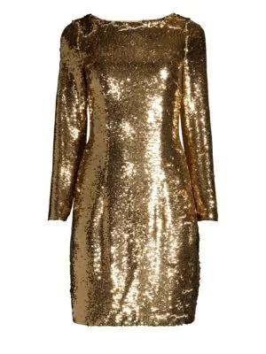 f4b4ea16 Aidan Mattox Sequin Cocktail Shift Dress In Gold | ModeSens