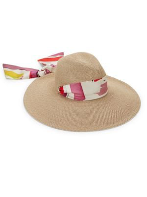 c12984a84 Cassidy Packable Wide-Brim Fedora & Scarf in Sand