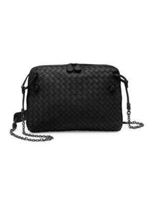 Bottega Veneta Nodini Double-Zip Crossbody Bag In Black