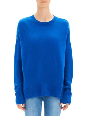 Karenia Cashmere Knit Top In Royal Blue
