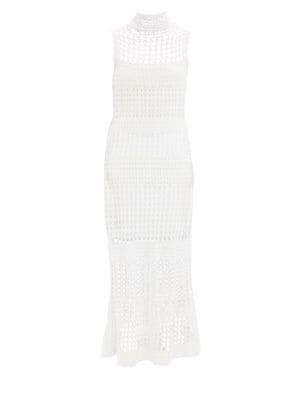 f27aa634c10 Theory Mixed Crochet Sweater Dress In Ivory