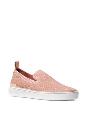 9c52c3be9b2b Michael Michael Kors Skyler Slip-On Sneakers In Rose Gold Fabric ...
