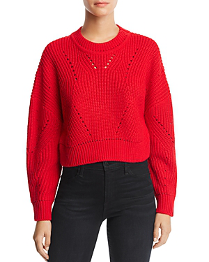 88b3f09a024 Aqua Cropped Pointelle Sweater - 100% Exclusive In Bright Red