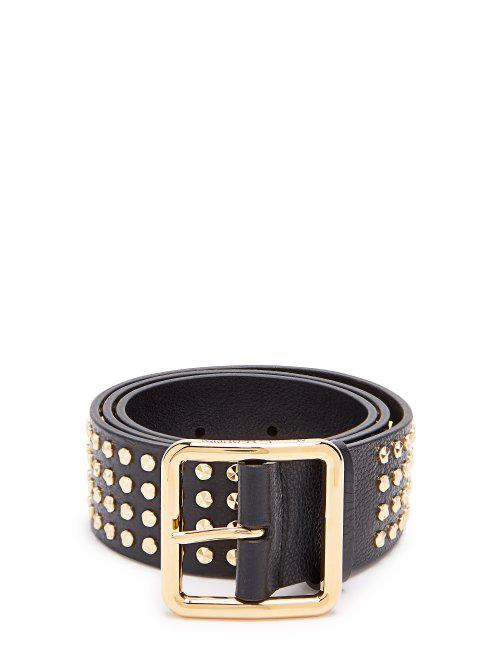 7a50f2b5ad Alexander Mcqueen - Studded Leather Belt - Womens - Black
