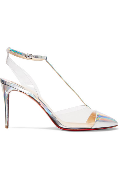 size 40 fe57d 52168 Nosy 85 Patent-Leather And Pvc Pumps in Metallic