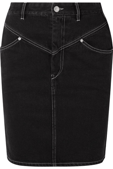 2fc35eb337 Isabel Marant Lorine Stitched Denim Pencil Skirt In Black | ModeSens