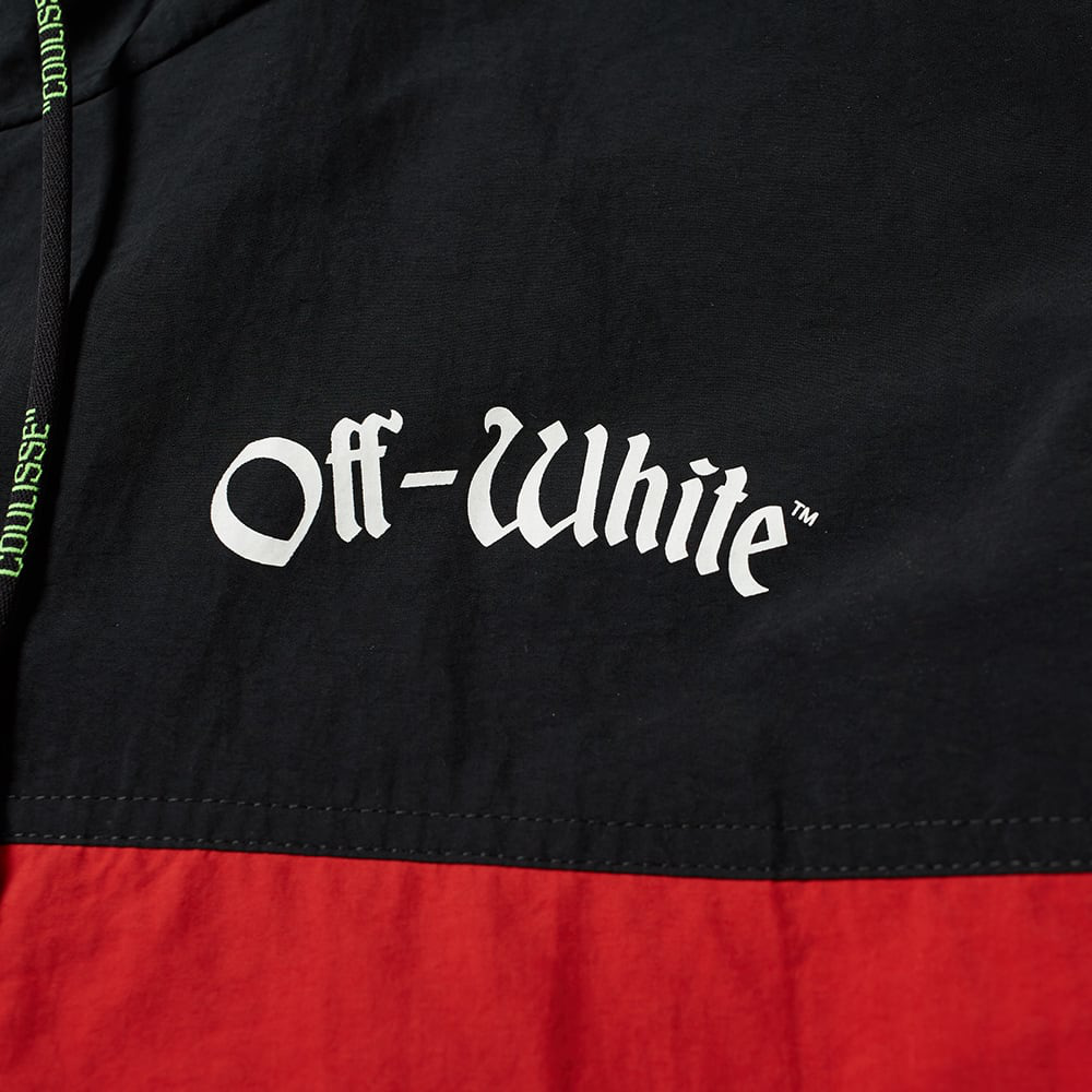 Off-White Oversized Two-Tone Shell Hooded Jacket Red/Black/White