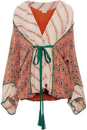 cdb882f6442 Talitha Woman Printed Silk Kimono Multicolor   ModeSens