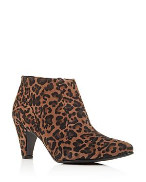 c959a810e Paul Green Women's Teddy High-Heel Booties In Leopard Suede   ModeSens