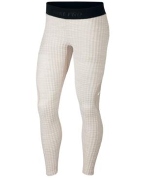 b70507d53e113 Nike Pro Hyperwarm Fleece-Lined Leggings In Desert Sand | ModeSens
