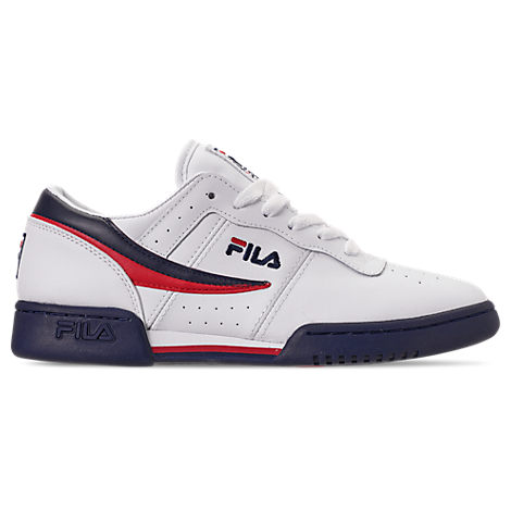 0bb3e5ad8a Fila Men's Original Fitness Casual Athletic Sneakers From Finish Line In  White/ Navy/ Red