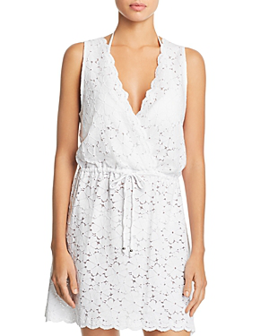 faeb72cb54 J. Valdi Flower Child Sleeveless Lace Swim Cover-Up In White | ModeSens