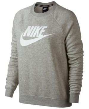 7cd6df2c Nike Women's Sportswear Rally Crew Sweatshirt, Grey In Grey Heather/White