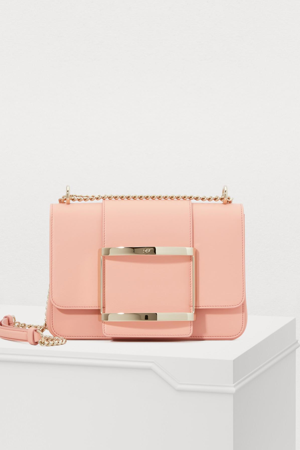 Roger Vivier TrÈS Vivier Small Shoulder Bag In Pink  1aff5f15c5c6c