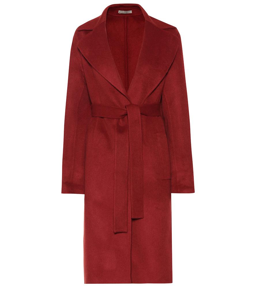71b196632c Bottega Veneta Knee-Length Cashmere Coat In Red