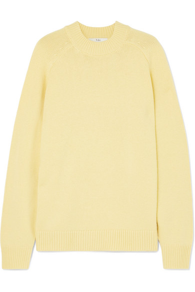 8f3328809efa6b Tibi Oversized Cashmere Pullover Sweater In Yellow | ModeSens
