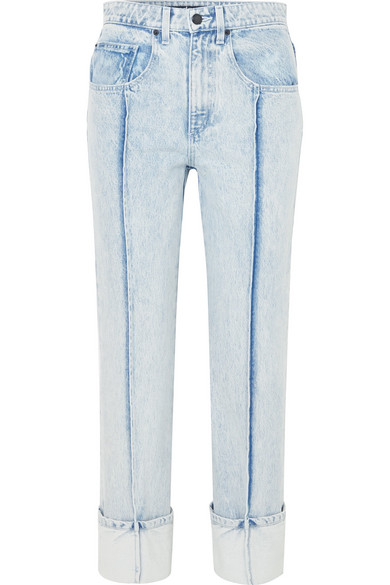 80cc244ca791 Alexander Wang High-Rise Slim-Leg Jeans In Light Denim