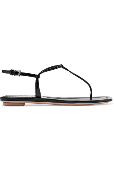 Leather Prada Thong BlackModeSens Sandals In Flat Patent sQrdxhtCB