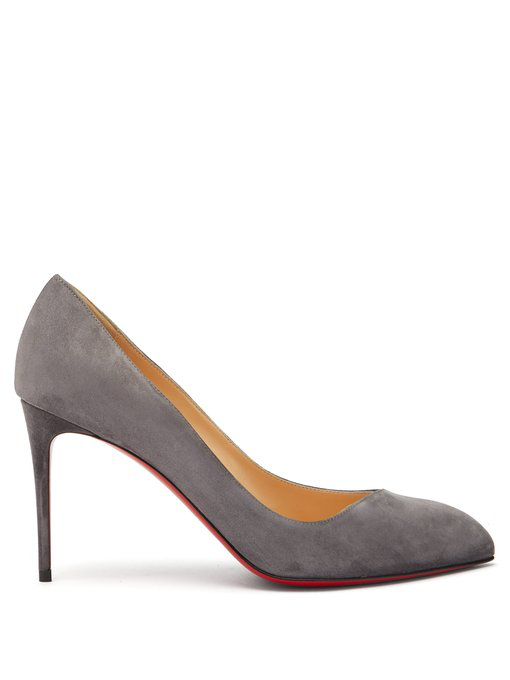 741676db284 Christian Louboutin - Corneille 85 Asymmetric Suede Pumps - Womens - Grey