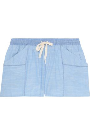 21cecbe2b0e0ac Skin Woman Jude Cotton-Gauze Pajama Shorts Light Blue