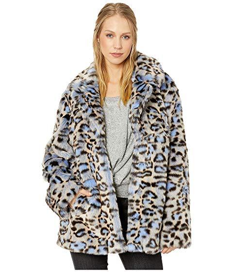 Ongekend Avec Les Filles Leopard Print Faux Fur Coat, Blue Leopard   ModeSens TU-35