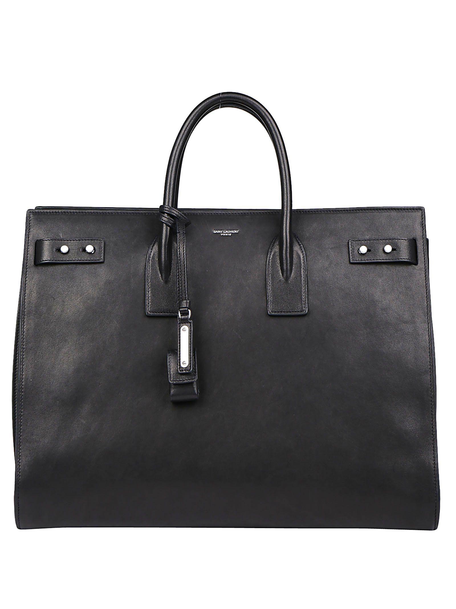 e707e4ac0ed7 Saint Laurent Sac De Jour Large Full-Grain Leather Tote Bag In Black ...