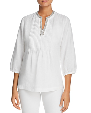 4628a21e3d Tommy Bahama Lux Linen Embellished Tunic In White